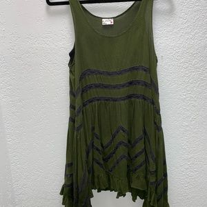 Green Dress/Tunic with Lace